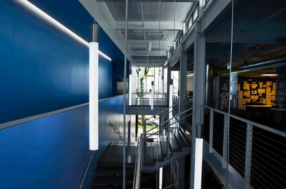 "Pavo 4"" - Blue Stairwell"